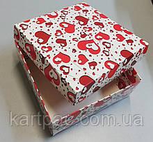 "Коробка под подарки из картона ""Сердце"" 195*195*97"