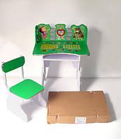 """Парта + стул B18350 """"Маша и медведь"""" зеленая"""