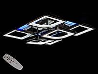 Светодиодная люстра с пультом-диммером и цветной подсветкой черный хром S8060-4+2, фото 1