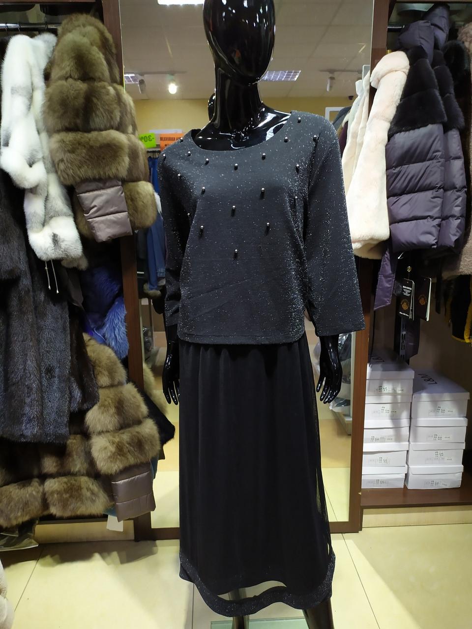 Женское вечернее платье люрекс, фатин, размер 58