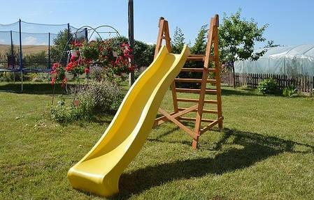 Горка спуск 3 м. с деревянной лестницей, детская игровая площадка, фото 2