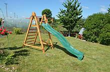 Горка спуск 3 м. с деревянной лестницей, детская игровая площадка, фото 3