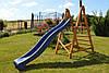 Горка спуск 3 м. с деревянной лестницей, детская игровая площадка, фото 4