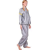 Костюм для похудения, весогонка Sauna Suit, PVC, р-р L-3XL-50-58, серый (ST-2122)
