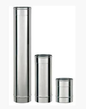 Труба н/ж дым. d=125, L=0.5м, 0.8мм одинарн. Pt (шт.)