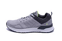 Мужские летние кроссовки сетка BS RUNNING SYSTEM Grey and Black, фото 1