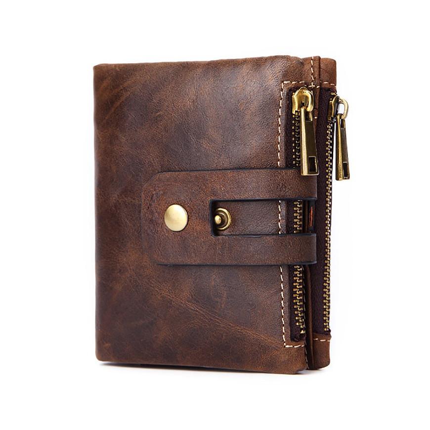 Гаманець шкіряний чоловічий. Портмоне гаманець з натуральної шкіри (коричневий)