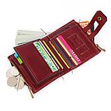 Гаманець шкіряний чоловічий. Портмоне гаманець з натуральної шкіри (коричневий), фото 7