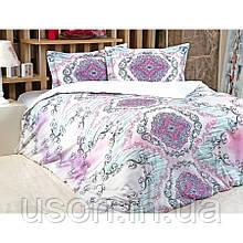 Комплект постельного белья из сатина евро размер TM Irya Violet