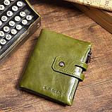 Гаманець шкіряний чоловічий. Портмоне гаманець з натуральної шкіри (чорний), фото 7