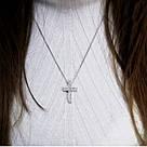 Крест серебряный с белыми фианитами Сити, фото 3