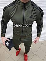 Мужской спортивный костюм Adidas Men Haki, фото 1