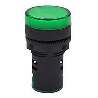 Індикатор світлодіодний зелений RZ AD22-22DS/G, 220 В, фото 1