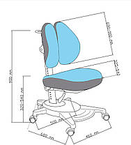 Чехол для кресла Pittore Grey FunDesk, фото 3