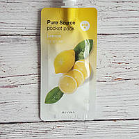 Ночная маска осветляющая с лимоном Missha Pure Source Pocket Pack Lemon 10мл