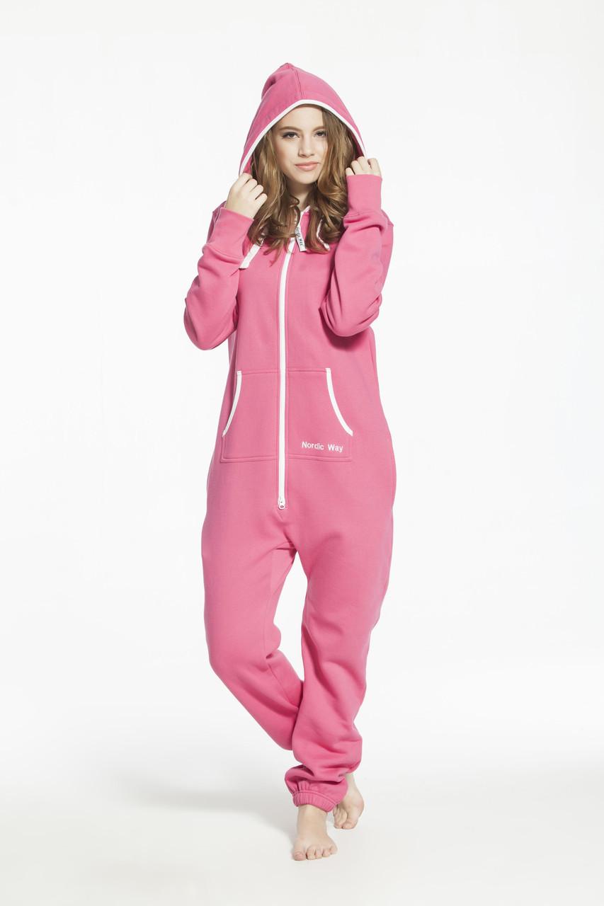Женский теплый комбинезон Nordic Way розовый