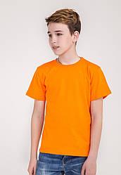 Дитяча однотонна футболка вільного крою (помаранчевого кольору)