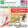 """Еластичні кільця латексні (міжщелепні тяги) G&H- Enchanted Latex Elastics""""Чарівна лісова тема"""" ex. heavy (екстра тяжкий натяг) - 8.5 oz. (240,98g), 5/16"""" (7.9mm) RED (TEXT) BAG"""