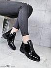 Демисезонные женские ботинки черного цвета, эко кожа лак 41 ПОСЛЕДНИЕ РАЗМЕРЫ, фото 2