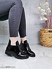 Демисезонные женские ботинки черного цвета, эко кожа лак 41 ПОСЛЕДНИЕ РАЗМЕРЫ, фото 3