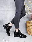 Демисезонные женские ботинки черного цвета, эко кожа лак 41 ПОСЛЕДНИЕ РАЗМЕРЫ, фото 4