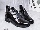 Демисезонные женские ботинки черного цвета, эко кожа лак 41 ПОСЛЕДНИЕ РАЗМЕРЫ, фото 5