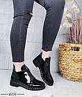 Демисезонные женские ботинки черного цвета, эко кожа лак 41 ПОСЛЕДНИЕ РАЗМЕРЫ, фото 6