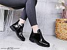 Демисезонные женские ботинки черного цвета, эко кожа лак 41 ПОСЛЕДНИЕ РАЗМЕРЫ, фото 7