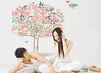 Интерьерная наклейка на стену Дерево с птичками DF5103