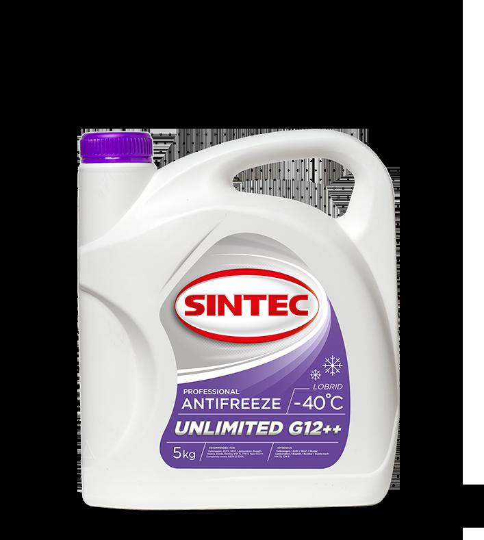 Антифриз SINTEC UNLIMITED G12 + +, (-40),   5л, красн