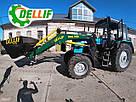Погрузчик на трактор  МТЗ ЮМЗ Т 40 Dellif Base 1600 с захватом для тюков, фото 9