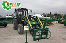 Погрузчик на трактор  МТЗ ЮМЗ Т 40 Dellif Base 1600 с захватом для тюков, фото 8
