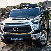 Детский электромобиль Джип JJ 2125 EBLR-2, Toyota Tundra, кожаное сиденье, колеса EVA, черный