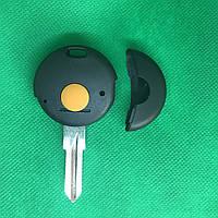 Корпус автоключа Mercedes Smart City Coupe, Cabrio, Fortwo (Мерседес Смарт) - 1 кнопка