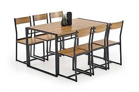 Столовый комплект  BOLIVAR  ( стол+6 кресел) (Halmar)