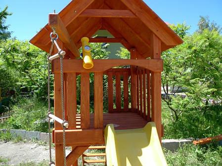 Детский игровой комплекс Домик с горкой + песочница, фото 2