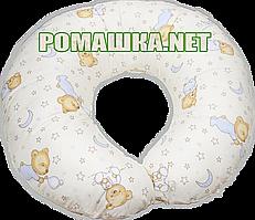 Подушка для кормления младенцев Пижамка, стандартная, длина 220 см, ширина 26 см, ТМ Ромашка, Бежевый