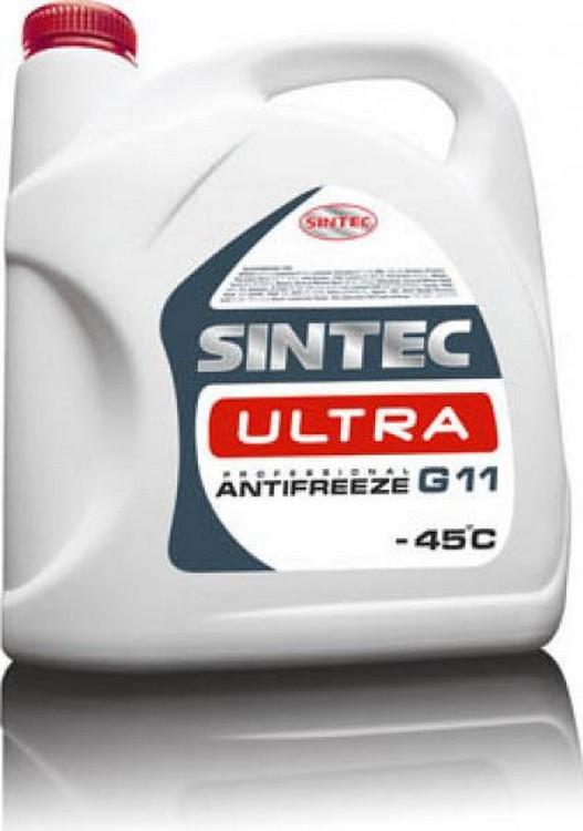 Антифриз SINTEC ULTRA G11, (-45), 5л, червон