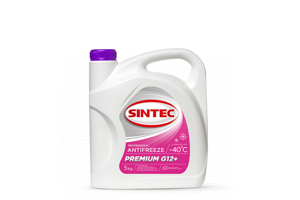 Антифриз SINTEC PREMIUM G12 +, (-40),   5л, красн