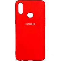 Силиконовый чехол - Full Silicone Cover на Samsung A10s Красный (red)