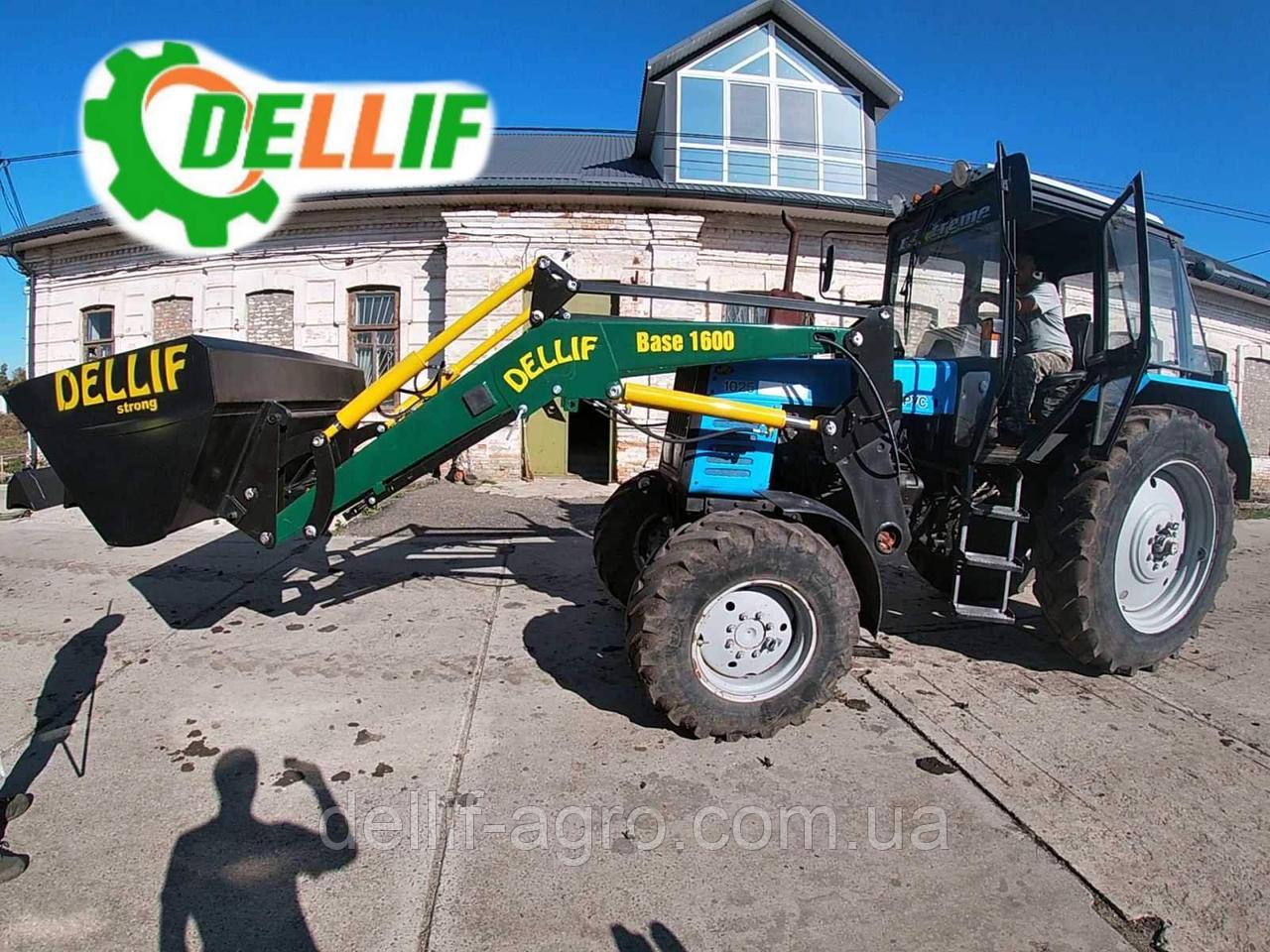 Погрузчик на трактор МТЗ ЮМЗ Т 40 Dellif Base 1600 с ковшом 1.8 м