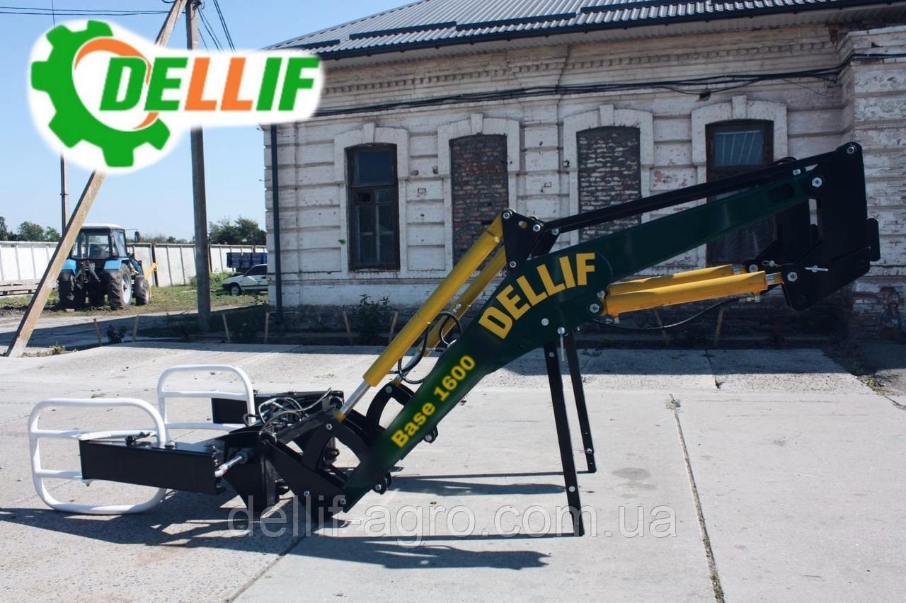 Погрузчик на трактор  МТЗ ЮМЗ Т 40 Dellif Base 1600 с захватом для тюков