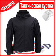 Тактическая куртка демисезонная SoftShell + беспроводные наушникиEARPHONE i7s TWS в подарок!