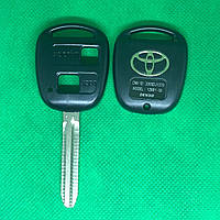 Корпус для автоключа TOYOTA Prado, Corolla, Rav 4 (Тойота Прадо, Корола, Рав 4) 2 - кнопки, лезвие TOY43