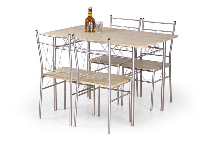 Столовый комплект FAUST( стол+4 креcла) (Halmar)