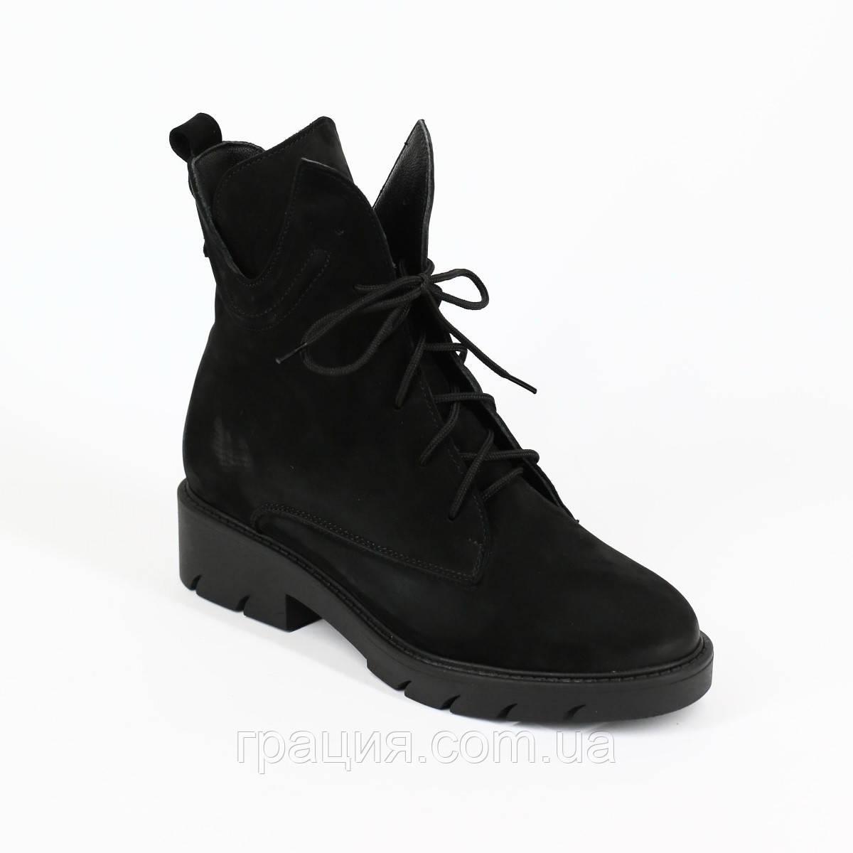 Стильні жіночі замшеві зимові черевики