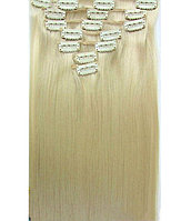 Трессы.волосы на заколках  блонд