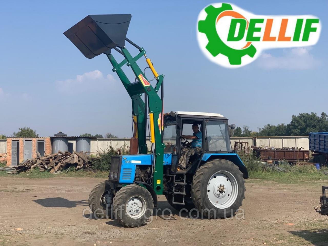 Погрузчик на трактор МТЗ Dellif Light 1200 стационарный с ковшом 1.6 м