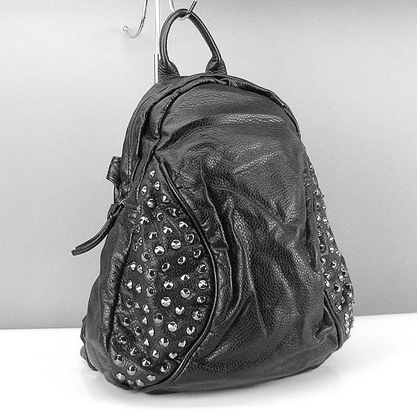 Рюкзак-сумка кожзам женский черный Farfalla Rosso 6427