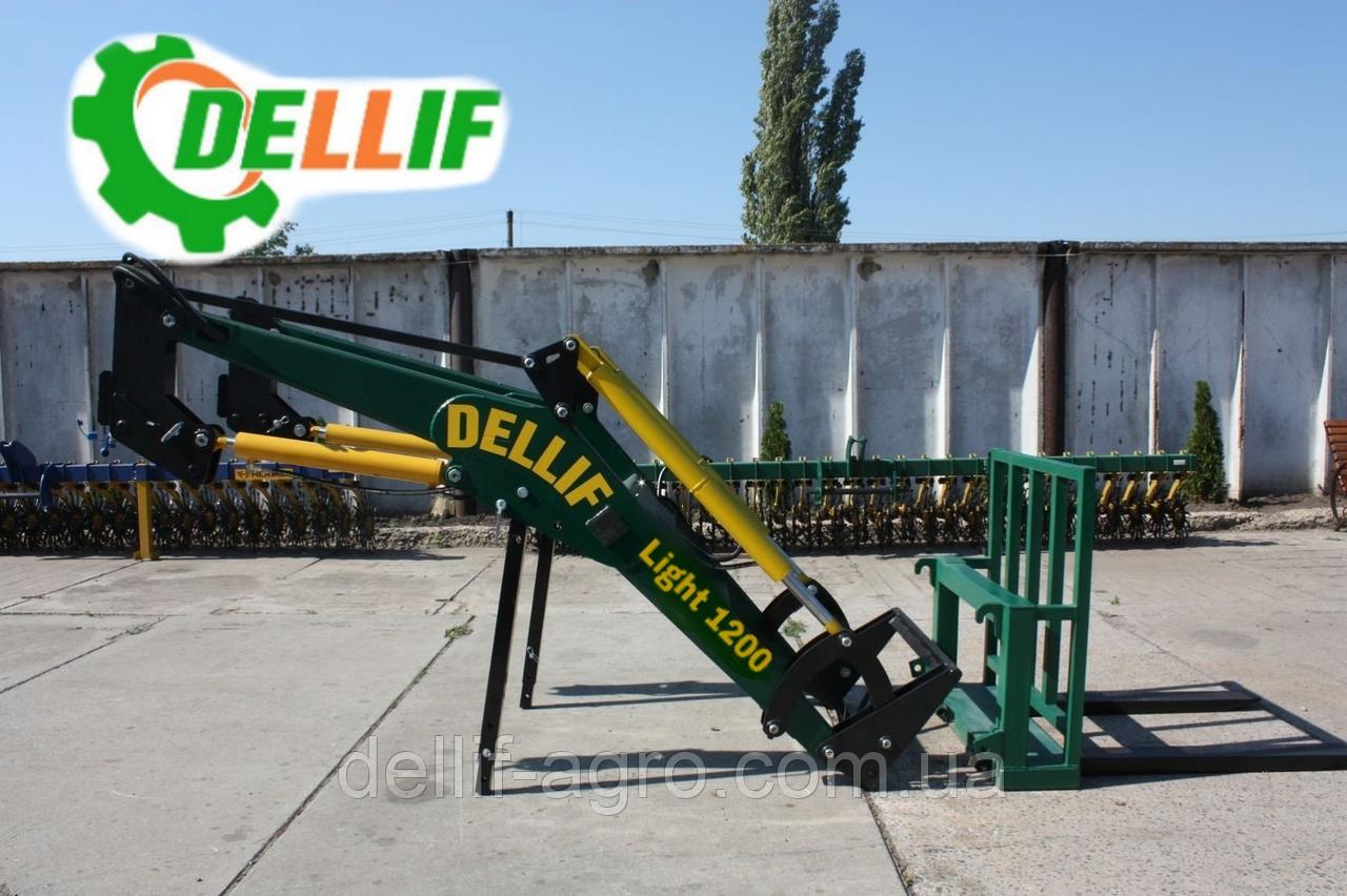 Погрузчик кун Dellif Light 1200 с паллетными вилами на трактор МТЗ,ЮМЗ,Т 40